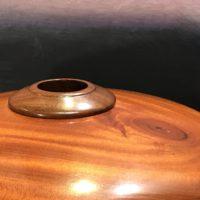"Cuban Mahogany & Milo Hollow Form by John Berthiaume 5""H x 8""D $400"