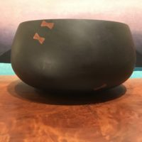 "Milo Umeke with Koa Pewa by Gordon Tang 12""H x 11""D $1400"