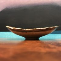 "Natural Edge Hau Bowl by Andy Cole 1.75""H x 6.5""L x 5.5""W $160"