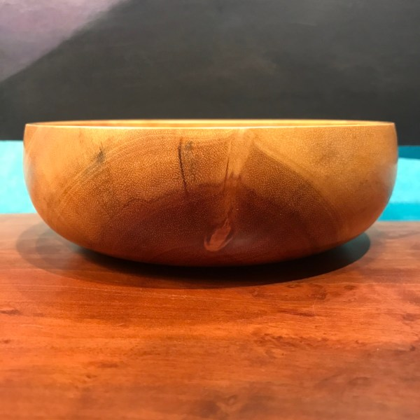 """Neem Bowl by Tom Young 2.25""""H x 6""""D $150"""
