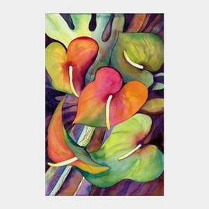 'Big Island Anthuriums' watercolor by Jocelyn Cheng, Giclée Print, several sizes