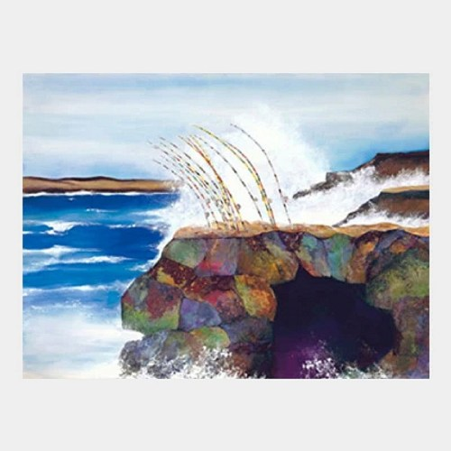 'South Point' watercolor and collage by Jocelyn Cheng, Giclée print, several sizes