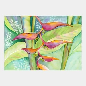 'Rainbow Heliconia' watercolor by Jocelyn Cheng, Giclée Print, several sizes