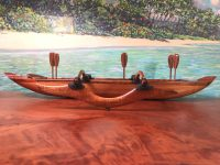"Koa Cribbage Canoe 3.25""H x 24.25""L x 8.75""W by Greg Eaves $970"