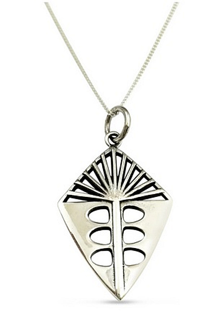 """ʻŌhi'a Lehua Pendant by Sonny Ching and Paradisus, Sterling Silver .79""""W x .98""""H $80"""
