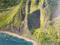 "Moloka'i Pali #1 Original Acrylic on Canvas by Cindy Conklin 18""H x 24""W $1250"