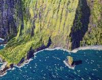 "Moloka'i Pali #3 Original Acrylic on Canvas by Cindy Conklin 16""H x 20""W $1000"