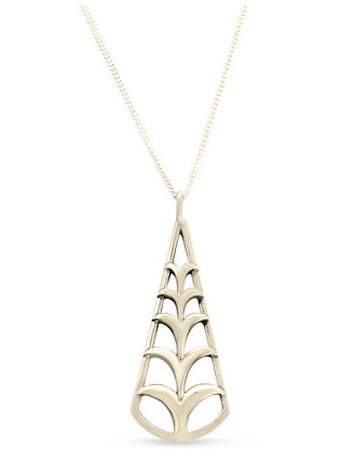 """'Ie'ie Pendant by Sonny Ching and Paradisus, Sterling Silver /w Chain .59""""W x 1.50""""H $80"""