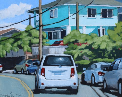 "'School Street' Original Acrylic Painting on Cradled Wood 8""x 10"" by Brenda Cablayan $700"