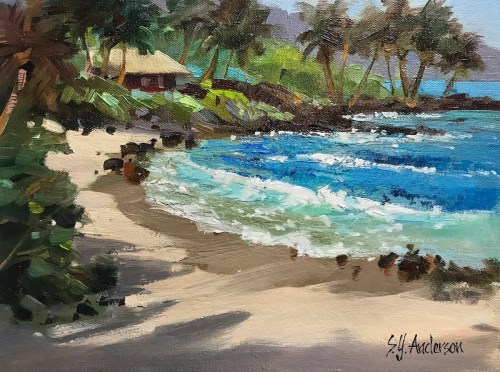 """'Summer Morning at Chuns' Original Oil Painting 15.5""""x 18.5"""" framed by Susie Anderson $700"""