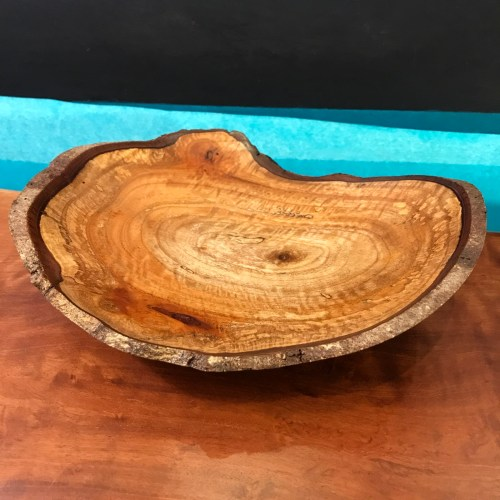 """Natural Edge Cinnamon Bowl 2""""H x 8.5""""W x 6.75""""D by Andy Cole $240"""