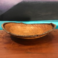 """Natural Edge Cinnamon Bowl 2""""H x 8""""L x 7""""W by Andy Cole $225"""
