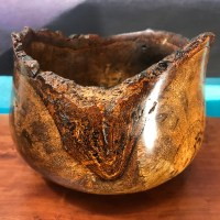 """Natural Edge Spalted Mango Bowl 5""""H x 6""""D by Eric LeBuse $350"""