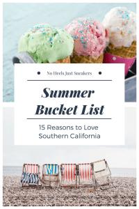 summer bucket list southern california