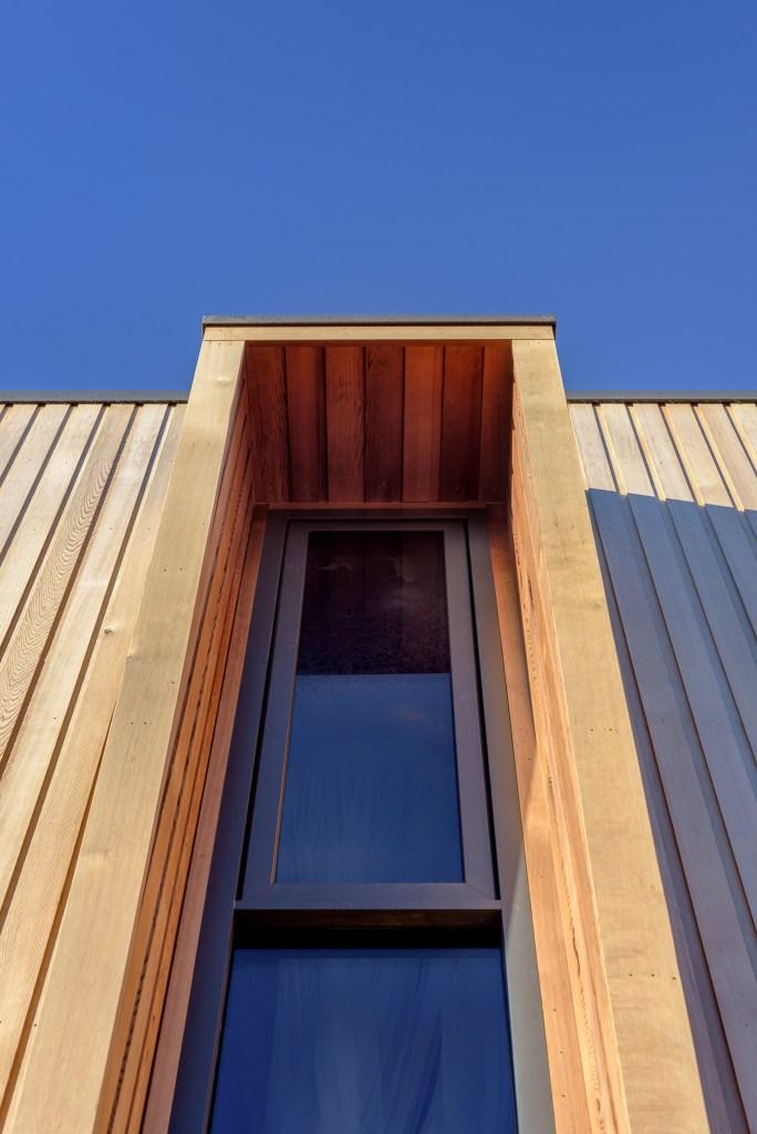 sustainable material cedar cladding