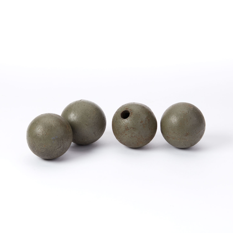 Steel Vintage 2 Balls Set Of 4