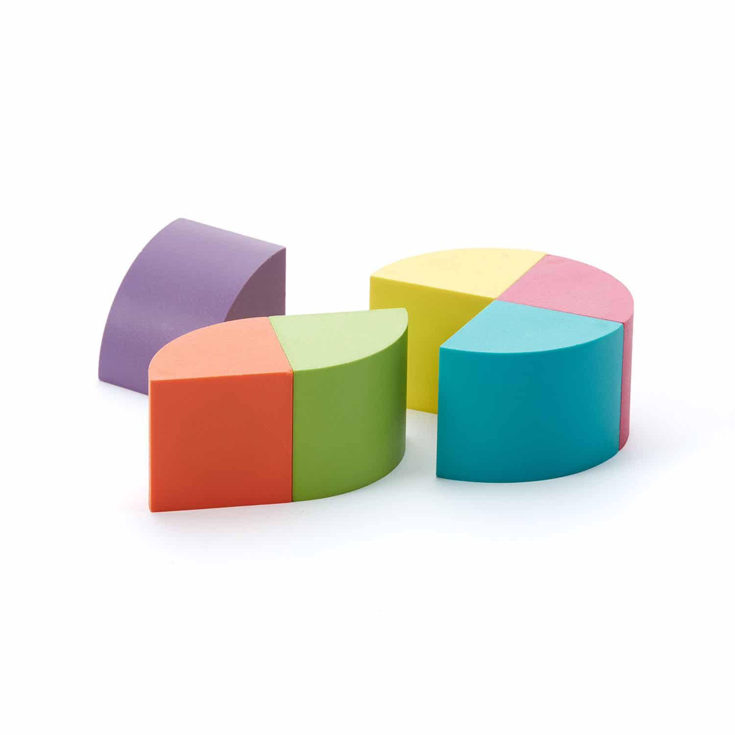 Toy Colored Curved Wood Shape Set