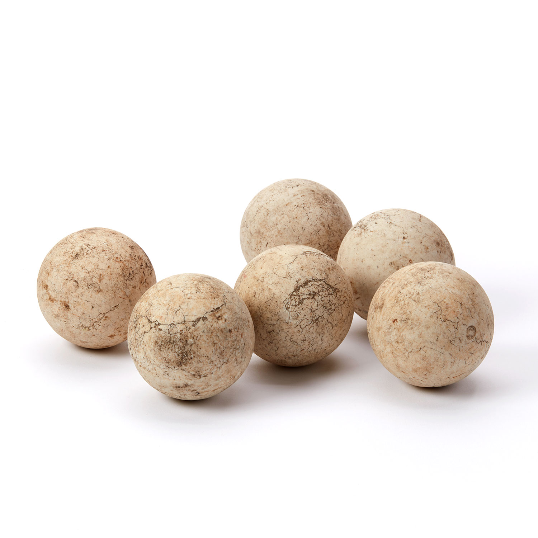 River Ball Set No 2 White Limestone