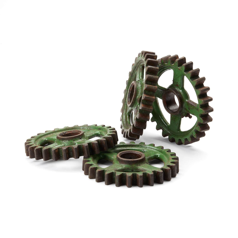 Industrial Green Metal Gears Vintage 4 Available