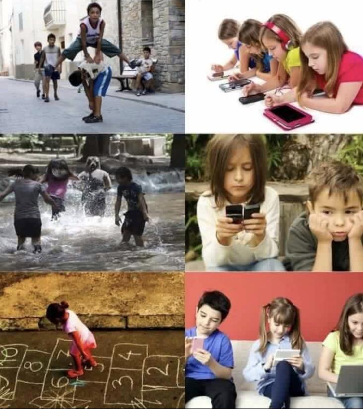 Children today vs before
