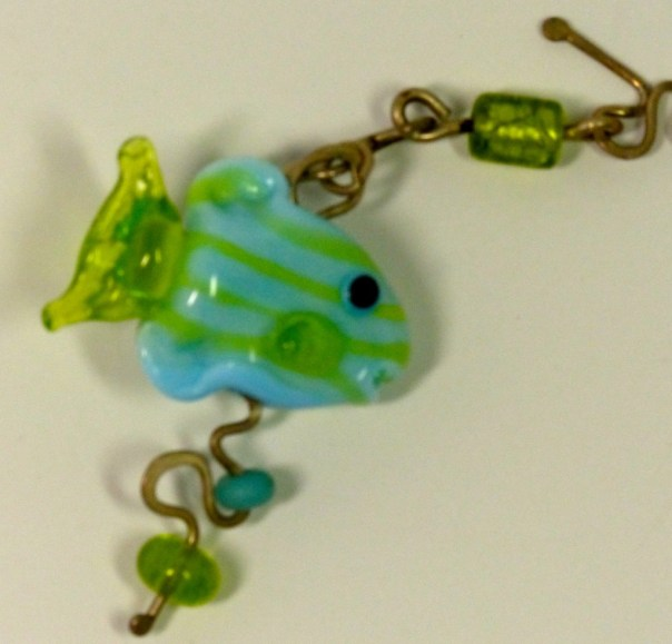 fish zipper pull