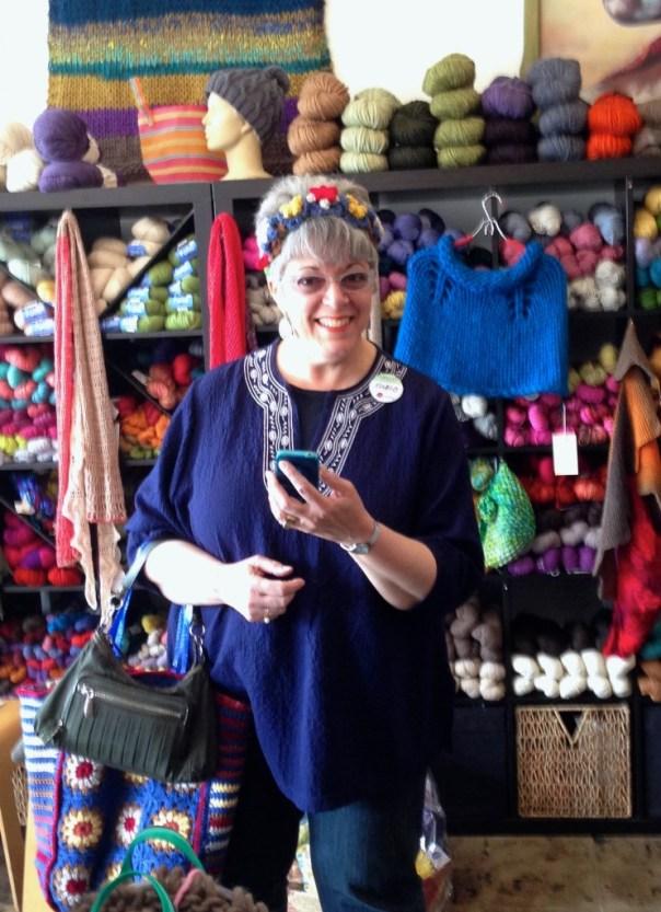 Ellen at the little knittery