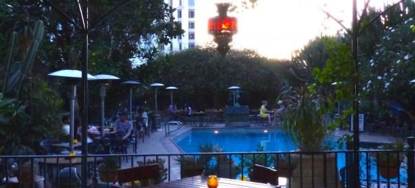 pool at Hotel Fig at night