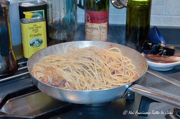 Spaghetti pancetta e porri-17