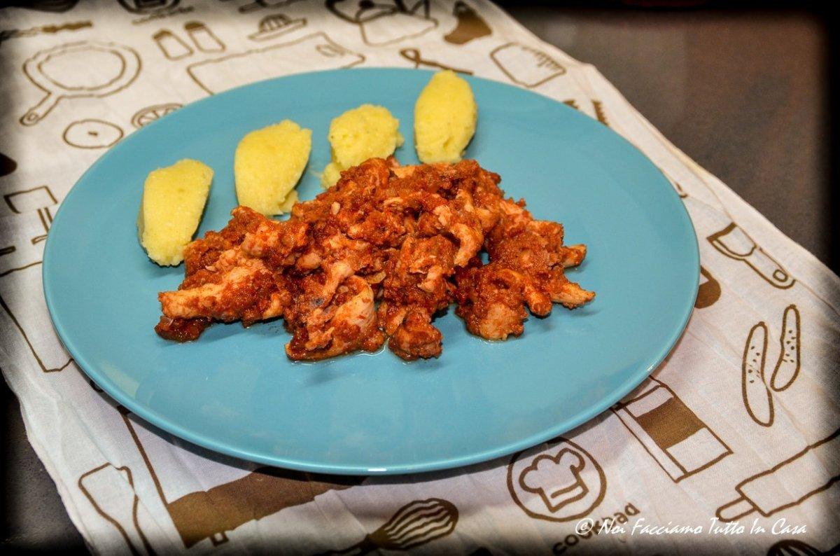 Pollo agrodolce con patate al forno-14