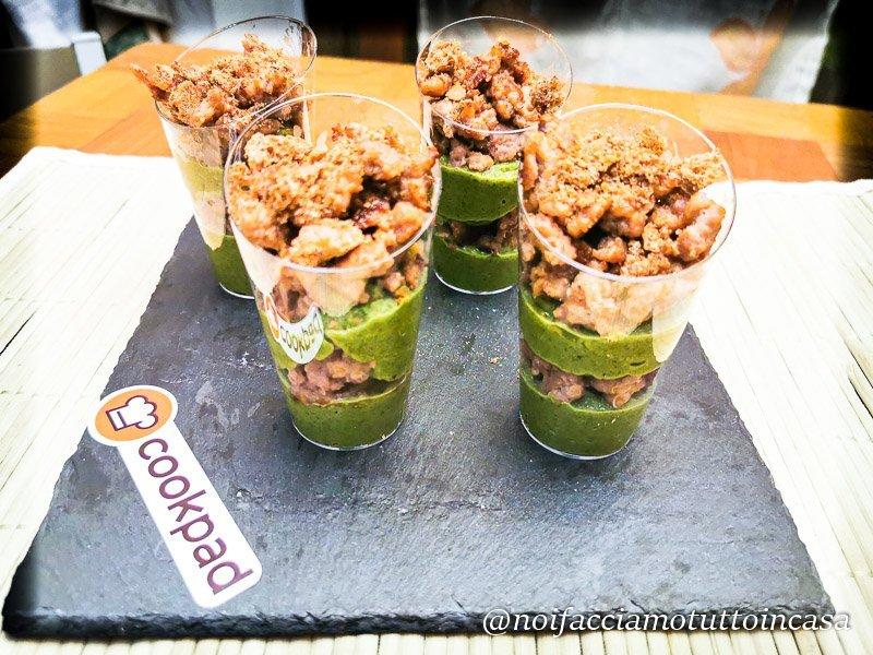 Finger Food in bicchierino salsiccia broccoli e fresella