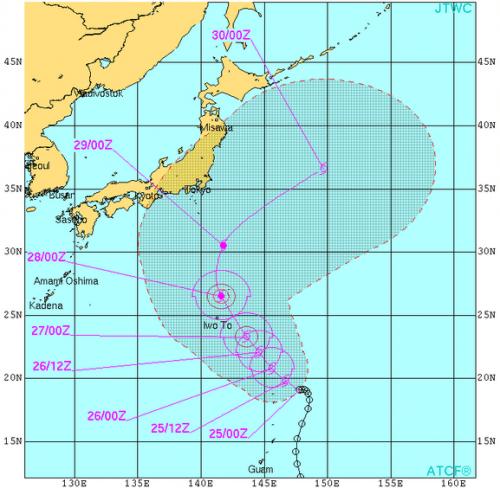 台風17号米軍進路予想