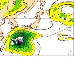 西欧11日午後9時台風19号