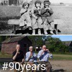 【ビフォーアフター】戦争で生き別れた3兄弟、90年後に再会して写真撮影?