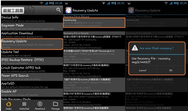 how to install custom recovery in q mobile noir a10