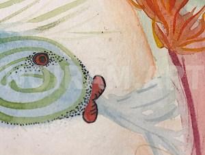 Aquarelle noiram mlam poncet uterus poisson eau feu