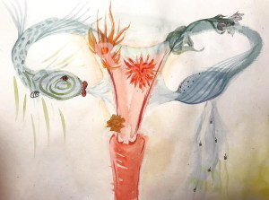 Aquarelle noiram mlam poncet uterus dragon eau feu
