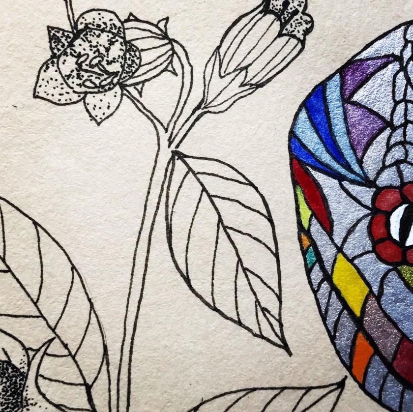 Création serpent datura ayahuasca mlam noiram marion-lorraine poncet