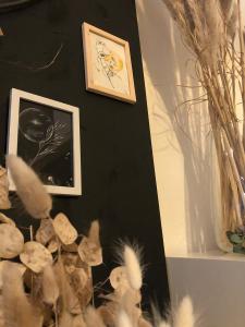 Aquarelle papier noir apesenteur mlam noiram marion-lorraine poncet planète plante monnaie du pape soleil d'automne