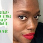 Holiday makeup look: Bold red lips on dark skin