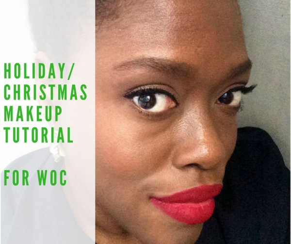 Holiday Makeup look red lips tutorial for WOC