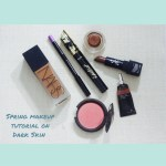 LOTD: Tulip-inspired Spring Makeup + Dark Skin