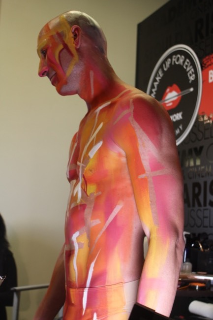 the makeup show nyc pink body paint