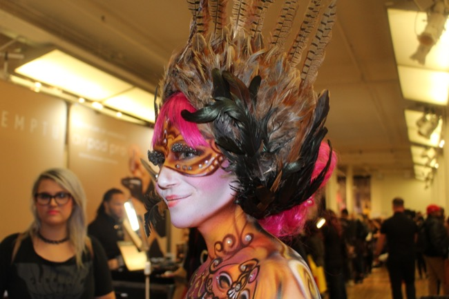 the makeup show nyc feathers 2