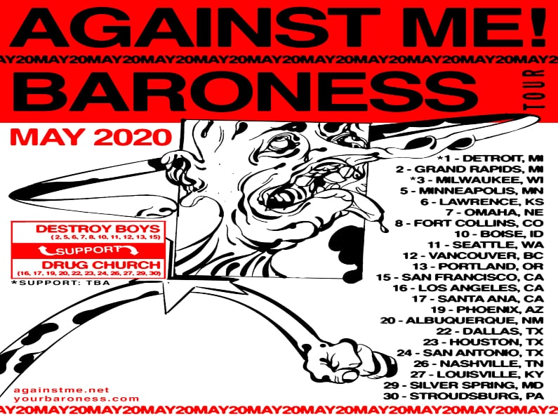 BARONESS ANNOUNCE NORTH AMERICAN TOUR CO-HEADLINING RUN WITH AGAINST ME!