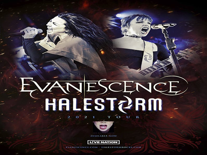 Evanescence + Halestorm Announce Fall 2021 US Arena Tour