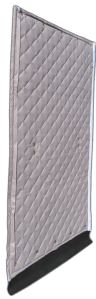 Construction site noise control. Noise reduction STC 33 NRC 0.75 ratings to control construction noise.