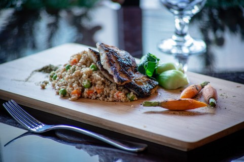 Copy of Braised red snapper and quinoa with benito