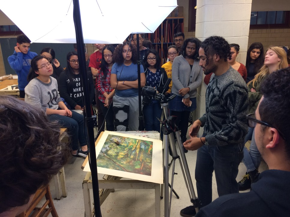 Art Muesum Artist Residency in Stop Motion at Central HS