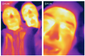 people seen with infrared camera