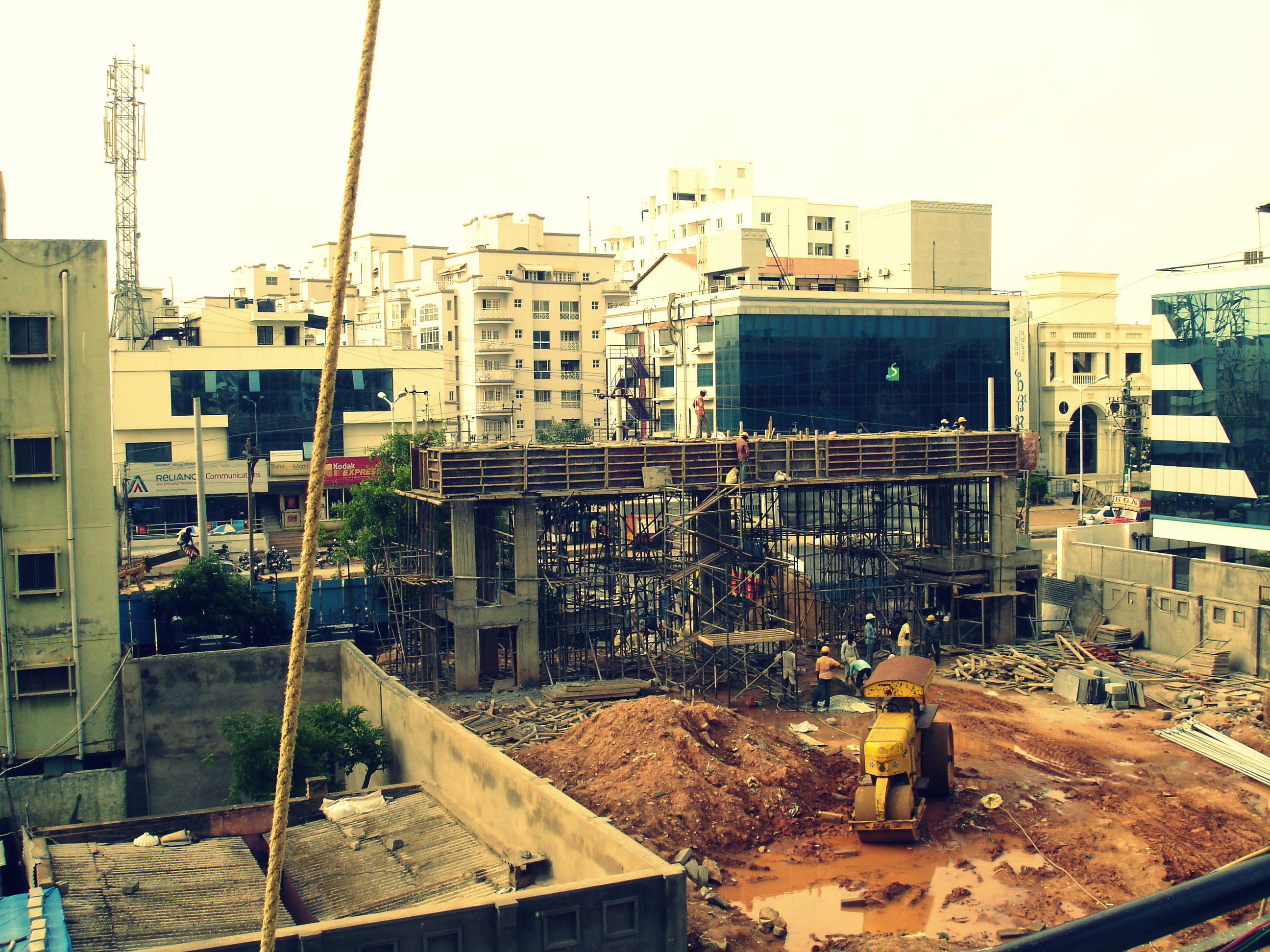 Bangalore probably has more buildings under construction than completed ones.